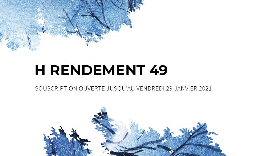 Ce mois-ci à l'affiche : <br>H RENDEMENT 49