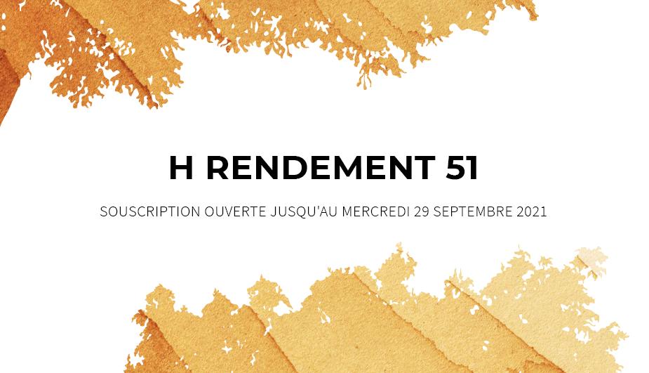 Ce mois-ci à l'affiche : <br>H RENDEMENT 51